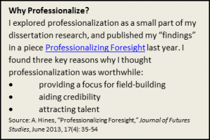 why professionalize